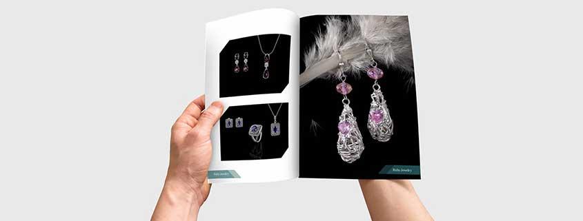 طراحی کاتالوگ شرکت جواهرات rubby به صورت ژورنال